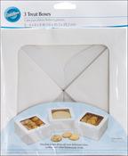 """White - Treat Boxes 8""""X8""""X4"""" 3/Pkg"""