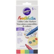 Primary - Food Writer Fine Tip Edible Color Markers .35oz 5/Pkg
