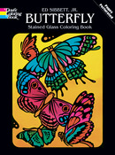 Butterfly Stained Glass Book - Dover Publications