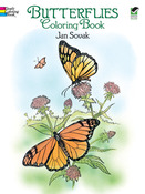 Butterflies Coloring Book - Dover Publications
