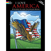 I Love America Stained Glass Book - Dover Publications
