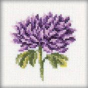 "4""X4"" 14 Count - Chrysanthemums Counted Cross Stitch Kit"