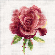 "4""X4"" 14 Count - Red Rose Counted Cross Stitch Kit"