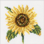 "4""X4"" 14 Count - Sunflower Counted Cross Stitch Kit"