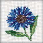 "4""X4"" 14 Count - Cornflower Counted Cross Stitch Kit"