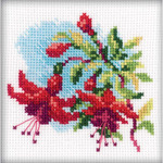 "4""X4"" 14 Count - Fuchsia Counted Cross Stitch Kit"