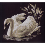 """15-3/4""""X13-3/4"""" 14 Count - Swan Counted Cross Stitch Kit"""