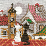 "5""X5"" 15 Count - City & Cats Spring Counted Cross Stitch Kit"