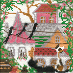 """City & Cats Summer Counted Cross Stitch Kit-5""""x5"""" 16 Count"""