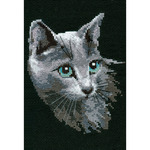 """8.25""""X11.75"""" 10 Count - Russian Blue Counted Cross Stitch Kit"""