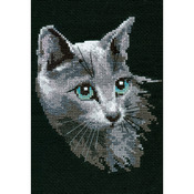 "8.25""X11.75"" 10 Count - Russian Blue Counted Cross Stitch Kit"
