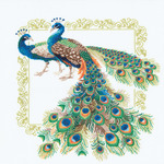 "18.875""X18.875"" 14 Count - Peacocks Counted Cross Stitch Kit"