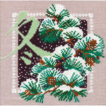 "Winter Counted Cross Stitch Kit-8""x8"" 16 Count"
