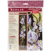 "7.75""X36.25"" 16 Count - Irises Counted Cross Stitch Kit"