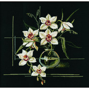 "15.75""X15.75"" 15 Count - White Orchid Counted Cross Stitch Kit"