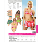 Swimsuit and Wrap - XS - S - M - L - XL