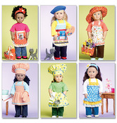 One Size Only - 18 (46cm) Doll Clothes, Bag, Towel and Cat