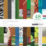 "Game On! - Kaisercraft Paper Pad 12""X12"" 48/Pkg"