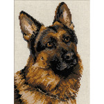 "9.5""X11.75"" 10 Count - German Shepherd Counted Cross Stitch Kit"
