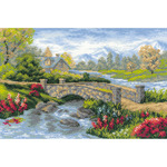 "15""X10.25"" 14 Count - Summer View Counted Cross Stitch Kit"