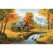 """15""""X10.25"""" 14 Count - Autumn View Counted Cross Stitch Kit"""