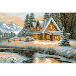 """15""""X10.25"""" 14 Count - Winter View Counted Cross Stitch Kit"""