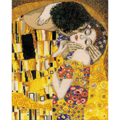 """11.75""""X13.75"""" 14 Count - The Kiss/G. Klimt's Painting Counted Cross Stitch Kit"""