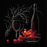 """11.75""""X11.75"""" 14 Count - Still Life With Red Wine Counted Cross Stitch Kit"""
