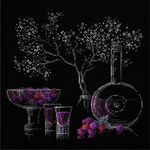 """11.75""""X11.75"""" 14 Count - Still Life With Liquor Counted Cross Stitch Kit"""