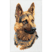 "Shepherd's Dog On Linen Counted Cross Stitch Kit-9-1/2""X13"" 24 Count"