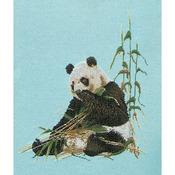 """Panda On Jobelan Counted Cross Stitch Kit-15-3/4""""X17-3/4"""" 27 Count"""