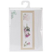 "Peonies On Aida Counted Cross Stitch Kit-32-1/4""X7-3/4"" 18 Count"