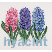 "16-1/2""X15-1/2"" 18 Count - Hyacinth On Aida Counted Cross Stitch Kit"