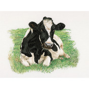 "Cow On Aida Counted Cross Stitch Kit-23-5/8""X17-3/4"" 16 Count"