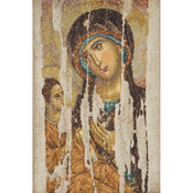 "8-3/4""X13-1/4"" 18 Count - Icon Mother Of God On Aida Counted Cross Stitch Kit"