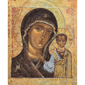 "9-1/2""X11-3/4"" 18 Count - Icon Virgin Of Kazan On Aida Counted Cross Stitch Kit"