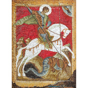 "8-3/4""X13-1/2"" 18 Count - St. George & The Dragon On Aida Counted Cross Stitch K"