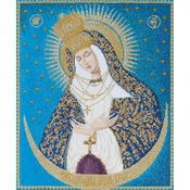 "9-3/4""X11-3/4"" 18 Count - Our Lady Of The Gate On Aida Counted Cross Stitch Kit"