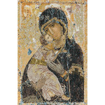 """8-3/4""""X13"""" 18 Count - Our Lady Of Vladmir On Aida Counted Cross Stitch Kit"""