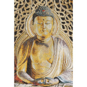 "8-3/4""X13"" 18 Count - Buddha On Aida Counted Cross Stitch Kit"