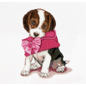 Puppy Love On Aida Counted Cross Stitch Kit