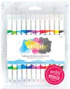 Bright - Artiste Dual Tip Brush Markers 12/Pkg