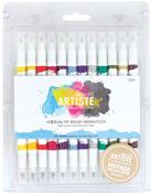 Vintage - Artiste Dual Tip Brush Markers 12/Pkg