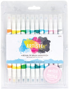Pastel - Artiste Dual Tip Brush Markers 12/Pkg