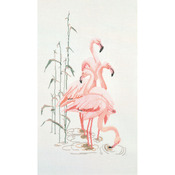 "Flamingoes On Aida Counted Cross Stitch Kit-15""X25-1/2"" 16 Count"