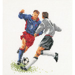 "6-1/4""X6-3/4"" 18 Count - Football (Soccer) On Aida Counted Cross Stitch Kit"