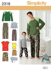 S - L / S - XL - Simplicity Men Boy Sleepwear