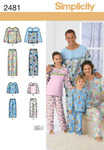 XS - L / XS - XL - Simplicity Unisex Sleepwear