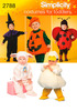 1/2,1,2,3,4 - Simplicity Toddlers Costumes