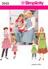 SIMPLICITY CHILD'S AND MISSES APRONS - S - M - L / S - M - L